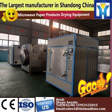 Conveyor belt type microwave dryer and sterilizer for herbs