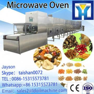 Tunnel type microwave drying machine for moringa leaves