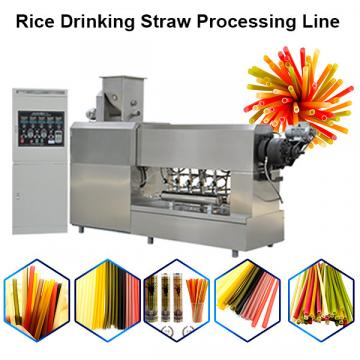 Vegetable Straws / Edible Rice Drinking Straws / Pasta Rice Straws Making Machinery